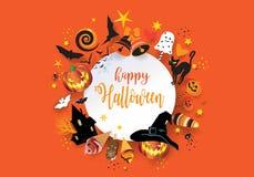 Halloween-Urlaubsparty-Festlichkeit oder Trick-Einladung lizenzfreies stockfoto