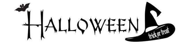 Halloween-Urlaubspartytext Festlichkeits- oder Tricktitellogo lizenzfreies stockbild