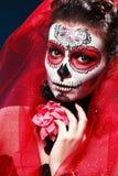 Halloween uzupełniał cukrową czaszkę Obrazy Stock
