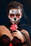 Halloween uzupełniał cukrową czaszkę Fotografia Stock