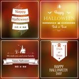 Halloween vage reeks Royalty-vrije Stock Afbeeldingen