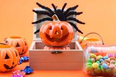 Halloween-Vakantieachtergrond Stock Afbeeldingen