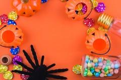 Halloween-Vakantieachtergrond Stock Afbeelding