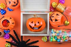 Halloween-Vakantieachtergrond Stock Foto