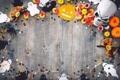 Halloween-Vakantieachtergrond Royalty-vrije Stock Afbeelding
