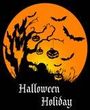 Halloween-vakantieaffiche Royalty-vrije Stock Fotografie