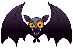 Halloween Vampire Bat. Vector cartoon illustration of a Halloween Vampire Bat with big orange eyes royalty free illustration