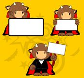 Halloween vampire costume bull cartoon set Stock Photography