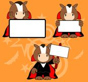 Halloween vampire costume horse cartoon set Royalty Free Stock Image