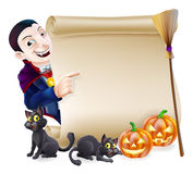 Halloween Vampire Dracula Scroll Stock Photography