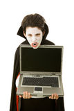 Halloween Vampire with Message royalty free stock image