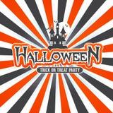 Halloween-van de achtergrond kunstzonnestraal ontwerp Stock Afbeeldingen