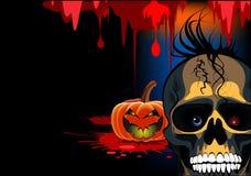 Halloween van de schedel bloed Royalty-vrije Stock Afbeelding