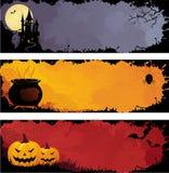 Halloween van Grunge banners Royalty-vrije Stock Afbeeldingen