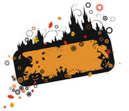 Halloween van Grunge frame Stock Afbeelding