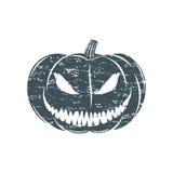 Halloween van Grunge pompoen Stock Foto