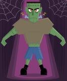 Halloween van het Monster van Frankenstein karaktervector stock illustratie