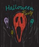 Halloween-van partij uitstekende grunge vector als achtergrond Royalty-vrije Stock Fotografie