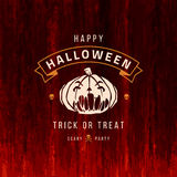 Halloween Vector Background and Pumpkin Royalty Free Stock Photos