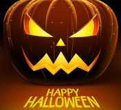 Halloween vector background with scary pumpkin and lights of horror Royalty Free Stock Photos