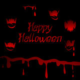 Halloween vector background with sharp teeth and Royalty Free Stock Photos