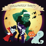 Halloween vector banner Stock Images