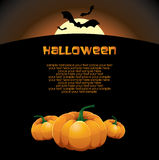 Halloween vector card Stock Photos