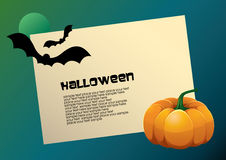 Halloween vector card Stock Image