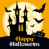 Halloween vector card Royalty Free Stock Photos