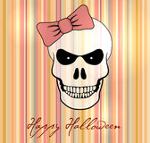 Halloween vector card / background. Royalty Free Stock Photography