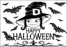 Halloween vector card Royalty Free Stock Photography