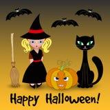 Halloween vector card Stock Photo