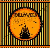 Halloween vector card Royalty Free Stock Image