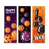 Halloween vector cards Stock Photos