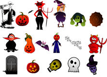 Halloween vector characters Royalty Free Stock Photos