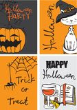 Halloween vector collection Stock Photography
