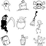 Halloween vector doodle on white backgrounds Royalty Free Stock Photo