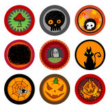 Halloween Vector drink coasters Royalty Free Stock Image