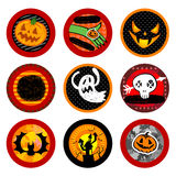 Halloween Vector drink coasters Royalty Free Stock Images