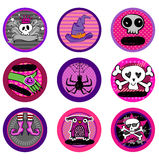 Halloween Vector drink coasters Stock Photos