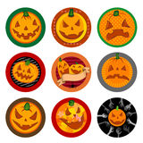 Halloween Vector drink coasters  Royalty Free Stock Photos