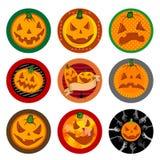 Halloween Vector drink coasters  Royalty Free Stock Photos