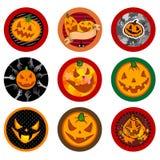 Halloween Vector drink coasters Stock Photos