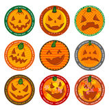 Halloween Vector drink coasters Stock Images