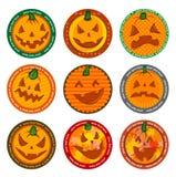 Halloween Vector drink coasters Stock Images