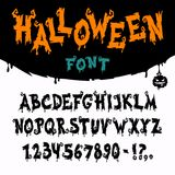 Halloween Vector Font Royalty Free Stock Images