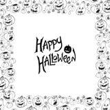 Halloween vector frame. Stock Photos