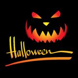 Halloween vector frame.  Hand lettering Royalty Free Stock Image