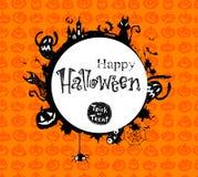 Halloween vector frame. Stock Photo