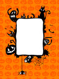 Halloween vector frame. Royalty Free Stock Photography
